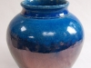 Blue crackle glazed vase