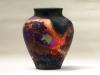 Medium copper fumed vase